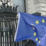 EU Flag at Downing Strett